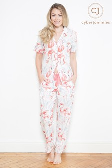 Пижамный комплект с принтом фламинго Cyberjammies Grace