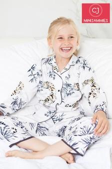 Пижамный комплект с принтом тигров Minijammies