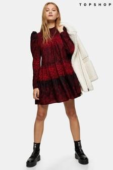 Topshop Tiered Mini Dress