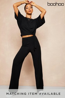 Boohoo Recycled Batwing Detail Top & Trouser Co-Ord