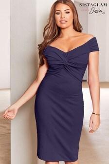Sistaglam Loves Jessica Knot Midi Dress