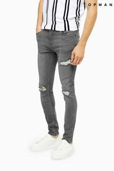 Topman Rip Stretch Skinny Jeans