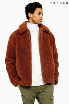 Topman Short Teddy Faux Fur Jacket