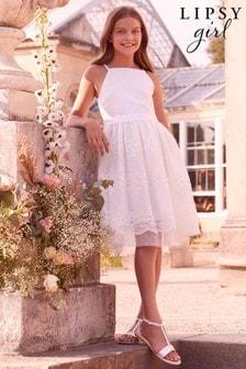 Dívčí krajkové společenské šaty Lipsy