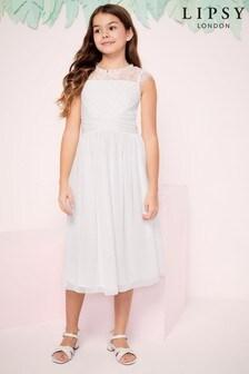Lipsy Verziertes Kleid für besondere Anlässe mit Spitzenärmeln