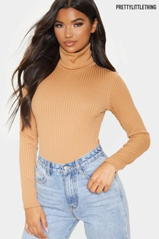 PrettyLittleThing Roll Neck Long Sleeve Body