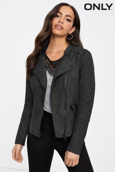 Only Faux Leather Biker Jacket