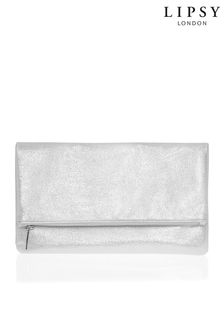 Lipsy Metallic Foldover Clutch Bag