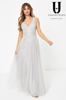 Forever Unique Embellished Top Maxi Dress