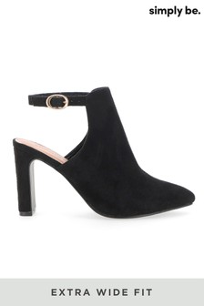 Simply Be Extra Wide Fit Back Strap Shoe Boot