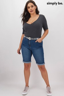 Simply Be Knee Length Denim Shorts