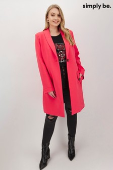 Simply Be Scuba Jersey Crombie Coat