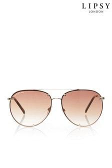 Lipsy Übergroße Pilotensonnenbrille