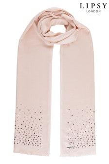 Lipsy亮片裝飾輕量圍巾