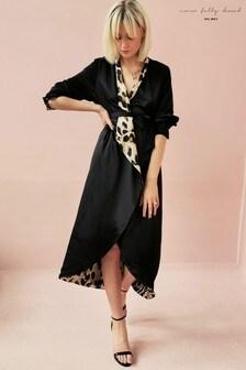 Never Fully Dressed Animal Print Reversible Wrap Dress