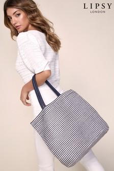 Lipsy Strandtasche mit maritimen Streifen