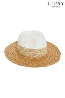 Lipsy Natural Weave Straw Fedora Hat