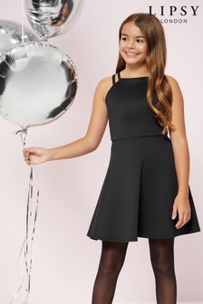 Lipsy Girl雙釦環彈性布洋裝