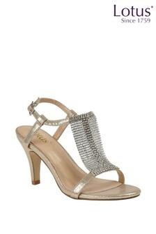 Lotus Metallic Effect Occasion Sandals