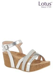 Lotus Cork Effect Wedge Sandals
