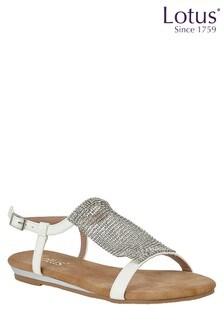Lotus - Metallic platte Comfort sandalen