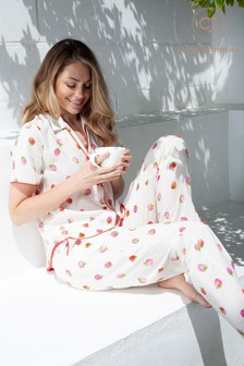 Cyberjammies Sophia Strawberry Print PJ Set