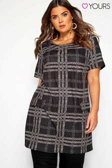 Yours Curve Animal Check Tunic Dress