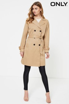 Only Double Breasted Trench Coat