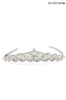 Jon Richard Bridal Raised Diamante Pearl Tiara
