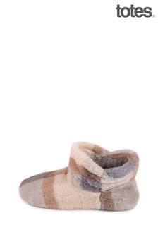 Čižmové papuče Totes s umelou kožušinou