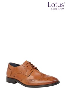 Lotus Leather Brogue Lace Formal Shoes