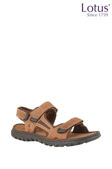 Lotus Leather Comfort Sandals