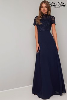 Chi Chi London Crochet Maxi Dress
