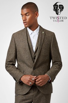 Twisted Tailor Snowdon Tweed Suit Jacket