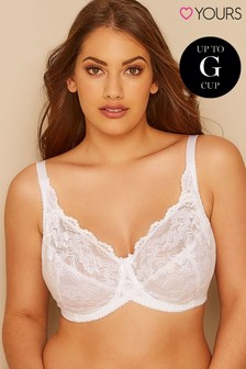 Yours Stretch Lace Non Padded Wired Bra DD+