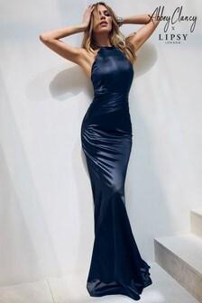 Abbey Clancy x Lipsy Satin Bandage Maxi Dress