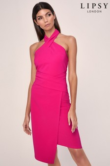 Lipsy Twist Neck Bodycon Dress