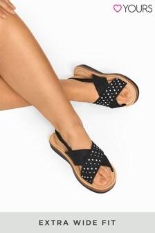 Yours交叉水鑽涼鞋