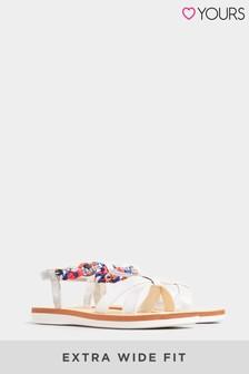 Yours Plait T-Bar Diamanté Sandal