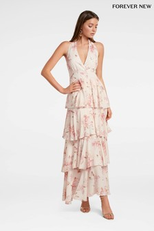 Forever New Halter Layered Maxi Dress