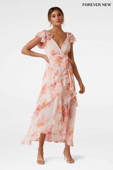 Forever New Floral Ruffle Maxi Dress
