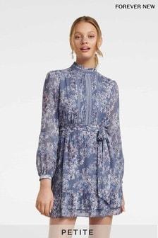 Forever New Petite Floral High Neck Mini Dress