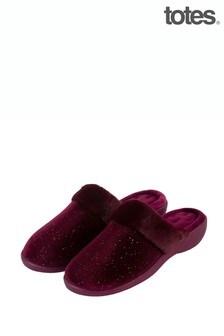 Велюровые тапочки на каблуке Just Sheepskin