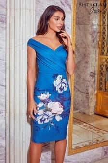 فستان مستقيم2 في1 زهور منSistaglam Loves Jessica