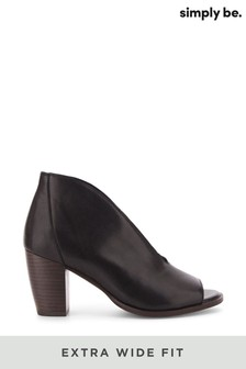 Simply Be Extra Wide Fit V Cut Leather Shoeboot