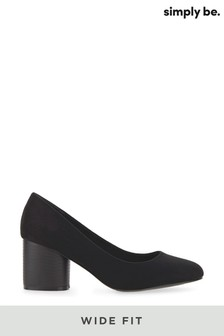 Pantofi Simply Be Wide Fit cu toc rotund