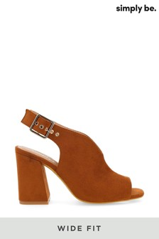 Simply Be Wide Fit V Cut Slingback Shoeboots