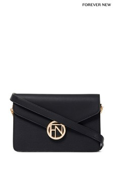 Forever New Naomi Metal Plaque Crossbody Bag
