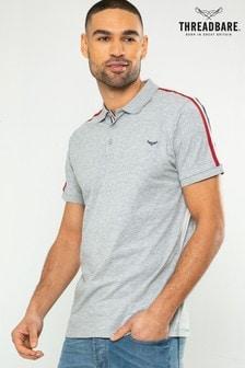 Threadbare Shoulder Stripe Polo Shirt