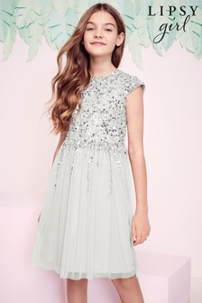 Lipsy Girl Occasion Sequin Bodice Dress